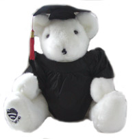 Graduate White Voice Recordable Bear